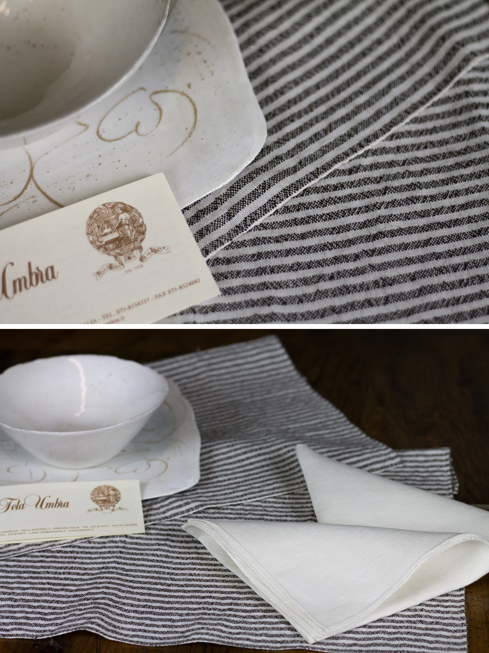 Set americana tessuto 300 liscio lino e placa vari colori 2 sottopiatti + 2 tovaglioli